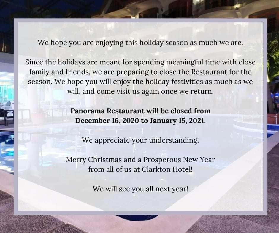 Clarkton Restaurant Dec 2020
